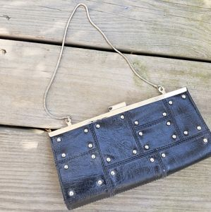 Steve Madden black studded clutch purse